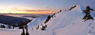 Fototapeta Mt. Seymour První Pump Peak zimní slunce, Vancouve