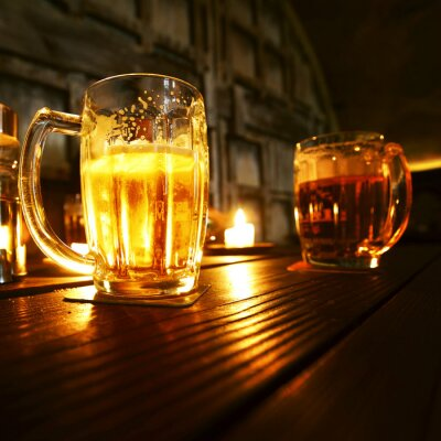 Fototapeta Mugs of beer