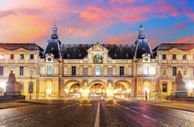 Fototapeta Muzeum Louvre v Paříži při východu slunce, Francie
