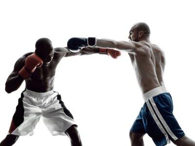 Fototapeta muži boxeři box samostatný silueta