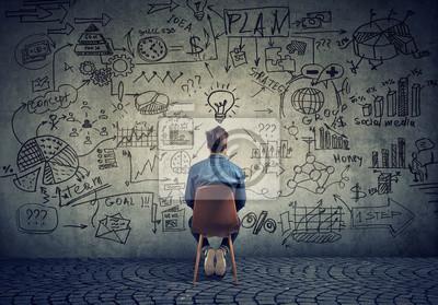 Fototapeta Muži brainstorming na podnikatelský plán