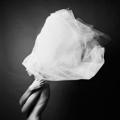 Fototapeta Nahá žena v elegantním turbanu