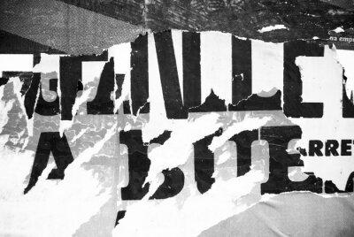 Fototapeta Náhodné pozadí koláž papír typografie textury na zeď