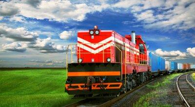 Fototapeta Nákladní vlak s prostorem pro text