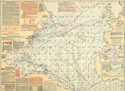 Fototapeta Námořní ročník mapa