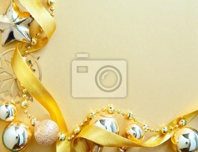 Návrh Vánoční blahopřání s zlatým vánoční strom dekorace