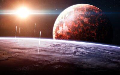 Fototapeta Nekonečný prostor pozadí s mlhovin a hvězd. Tyto obrazové prvky poskytované NASA