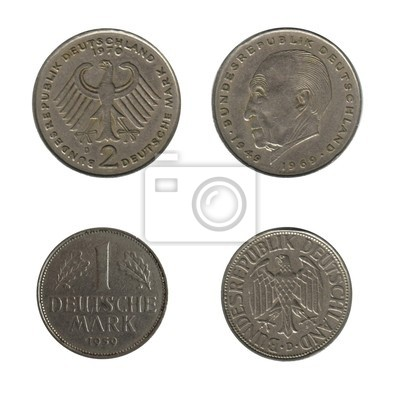 46a81e96d Německé mince, staré marek fototapeta • fototapety karban, Němec ...