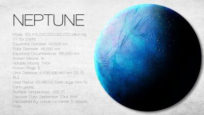 Fototapeta Neptune - Vysoké rozlišení Infographic představuje jeden ze sluneční