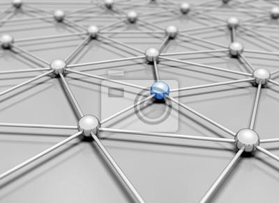 Fototapeta Network 3d illustration
