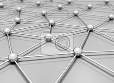 Fototapeta Network 3d ilustrace