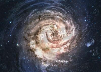 Fototapeta Neuvěřitelně krásná spirální galaxie někde v hlubokém prostoru.