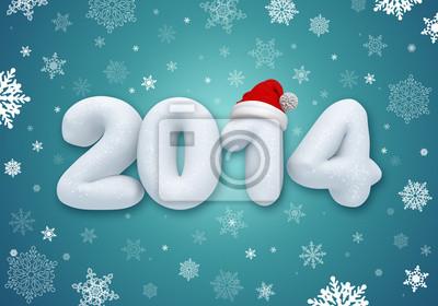 Fototapeta new year number, winter calender cover