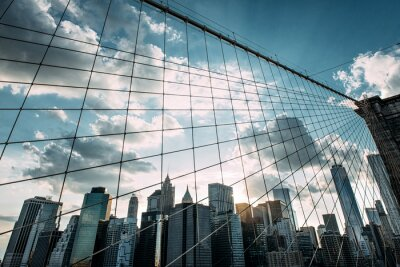 Fototapeta New York, Brooklynský most,