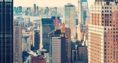 Fototapeta New York City panorama při západu slunce