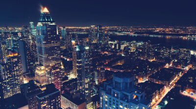 Fototapeta New York City panorama v noci
