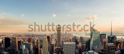 Fototapeta New York panorama, při pohledu do centra Manhattanu. Panoramatický obrázek.