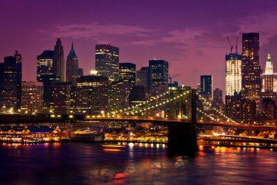 Fototapeta New York pont de Brooklyn