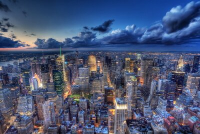 Fototapeta New York v noci.