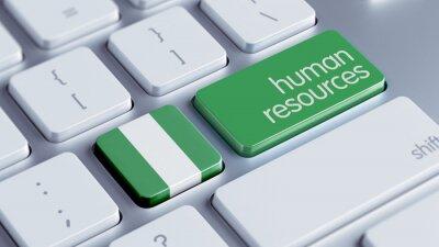 Nigérie Lidské zdroje Concept