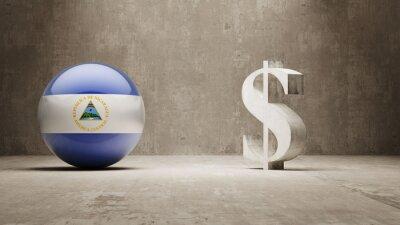 Nikaragua. Peníze Sign koncept.