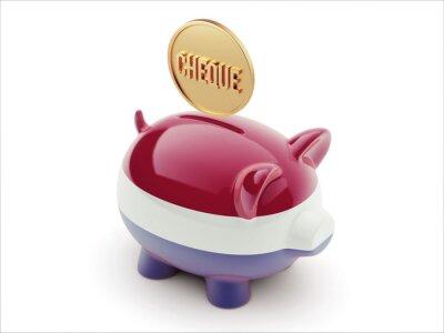 Nizozemsko Šek Concept Piggy Concept