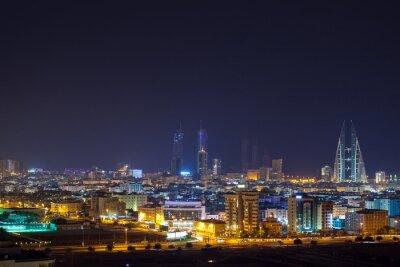 Fototapeta Noční panorama Manama, hlavním městě Bahrajnu