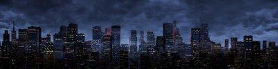 Fototapeta Noční panorama města