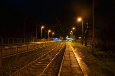 Fototapeta noční stanici