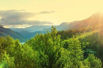 Fototapeta Norsko hory
