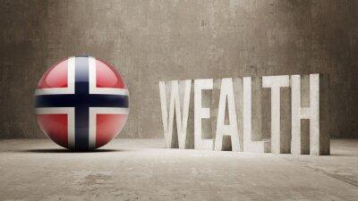 Norsku. Bohatství Concept.