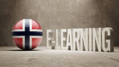 Norsku. E-Learning Concept
