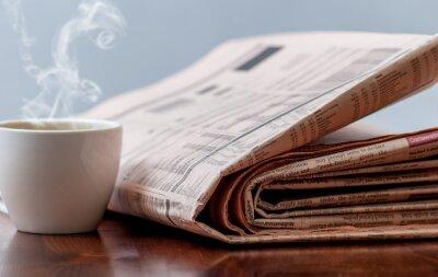 Fototapeta Noviny a káva