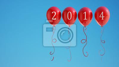 Nový rok 2014 Balónky s ořezovou cestou