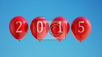Nový rok 2015 Balónky s ořezovou cestou