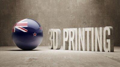 Nový Zéland. 3D tisk Concept