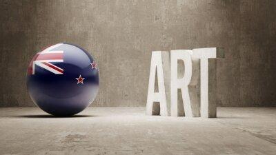 Nový Zéland. Art Concept