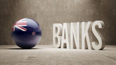 Nový Zéland. Banky Concept