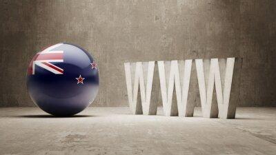 Nový Zéland. WWW Concept.
