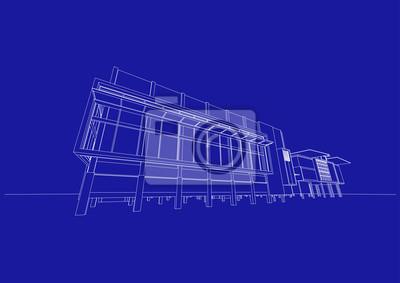 Obchodni Budova Struktura Architektura Abstraktni Kresba 3d