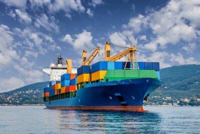 Fototapeta obchodní kontejnerová loď