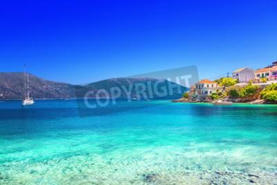 Fototapeta Obec Fiskardo, Kefalonia ostrov, Řecko
