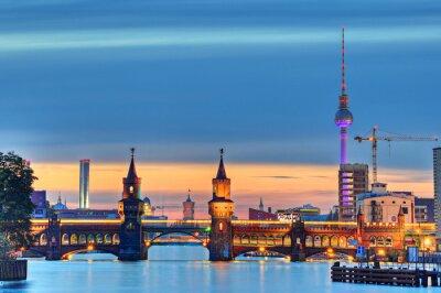 Fototapeta Oberbaumbrücke Berlín