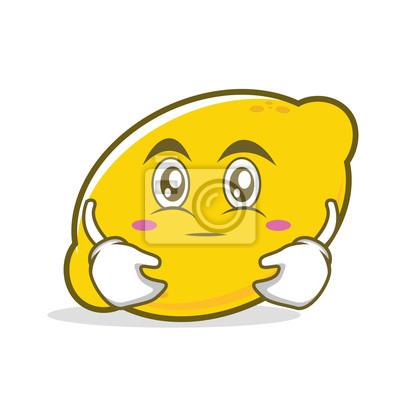 Objimani Tvare Citronu Kreslene Postavicky Fototapeta Fototapety
