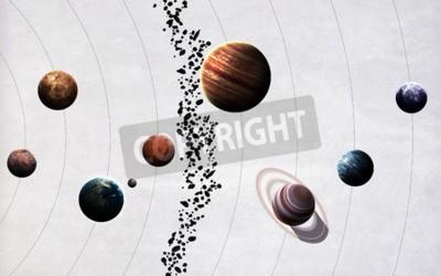 Fototapeta Obraz s vysokým rozlišením představuje planet sluneční soustavy.