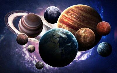 Fototapeta Obraz s vysokým rozlišením představuje planet sluneční soustavy. Tyto obrazové prvky poskytované NASA