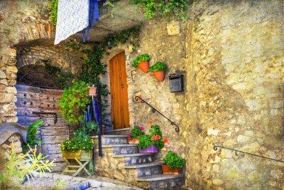 Fototapeta obrazová starých ulicích italských obcí