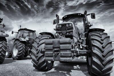 Fototapeta obří zemědělské traktory a pneumatiky
