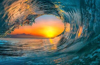 Fototapeta Oceánová vlna mořské vody