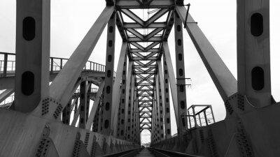 Fototapeta ocelový železniční most
